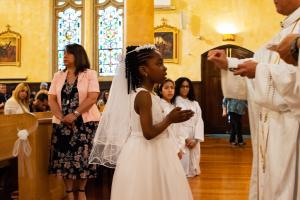 little girl first communion