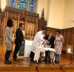 Photo of baptism at St. Marks